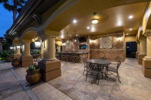 Three Bedroom Apartments for Rent in Northwest Houston, TX -Evening View of Covered Seating Area